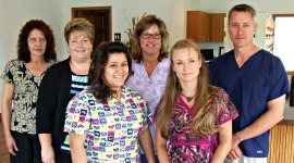 Dr. Ken Johnson, DDS, and staff